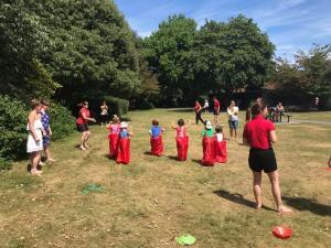Moordown Preschool Sack Race